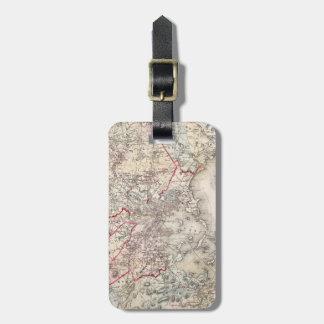地図: ボストン1883年 ラゲッジタグ