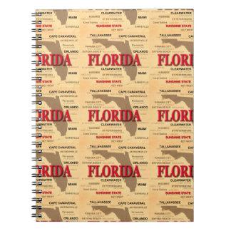 地図、マイアミ、オーランド、Key Westフロリダ州 ノートブック