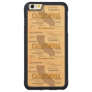 地図、ロサンゼルス、サクラメントカリフォルニア州 CarvedメープルiPhone 6 PLUSバンパーケース