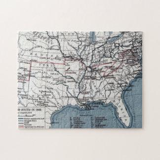 地図: 内戦1861年 ジグソーパズル