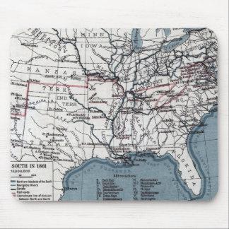 地図: 内戦1861年 マウスパッド