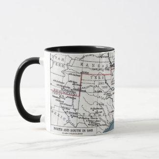 地図: 内戦1861年 マグカップ