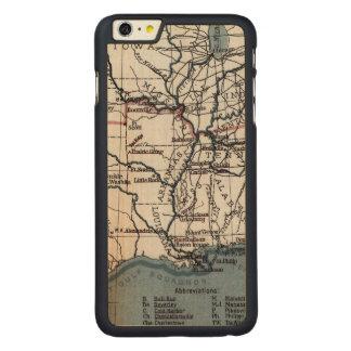地図: 内戦1861年 CarvedメープルiPhone 6 PLUS スリムケース