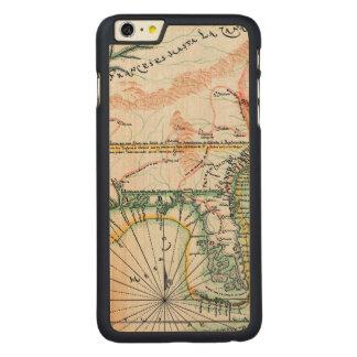 地図: 北アメリカ1742年 CarvedメープルiPhone 6 PLUS スリムケース