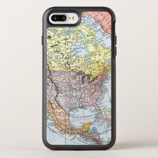 地図: 北アメリカ1890年 オッターボックスシンメトリーiPhone 8 PLUS/7 PLUSケース