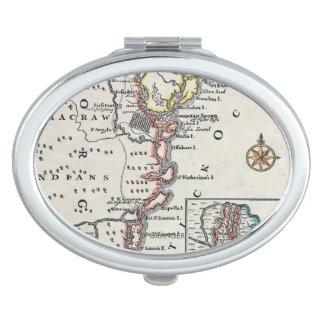 地図: 北アメリカ、C1700
