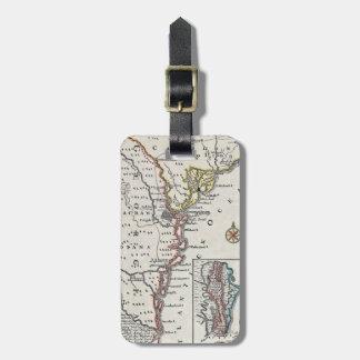 地図: 北アメリカ、C1700 ラゲッジタグ