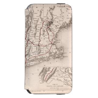 地図: 北東米国 iPhone 6/6Sウォレットケース