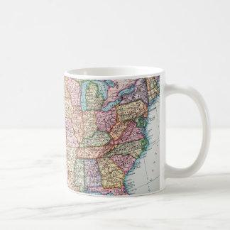 地図: 米国1905年 コーヒーマグカップ