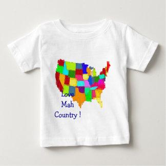 地図-米国 ベビーTシャツ