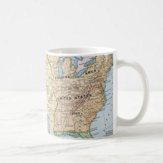 地図: 米国Expansion 1905年 コーヒーマグカップ