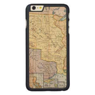 地図: 米国Expansion 1905年 CarvedメープルiPhone 6 Plus スリムケース