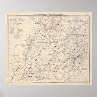 地図、Corrientes ProvのTerrの代表団 ポスター