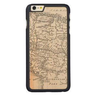 地図: PANNONIA CarvedメープルiPhone 6 PLUS スリムケース