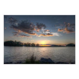 地平線の日没 フォトプリント