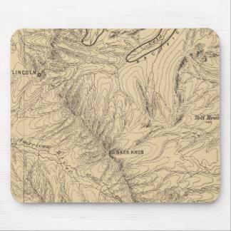地形のTruckeeDonnerのパスの地域、カリフォルニア マウスパッド