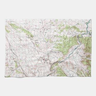 地形図 キッチンタオル