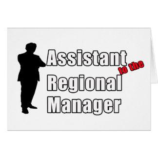 地方マネージャーへのおもしろいな助手 カード