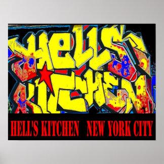 地獄の台所地区のラベル、ニューヨークシティ ポスター