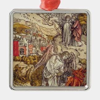 地獄の鍵との天使、1498年 メタルオーナメント