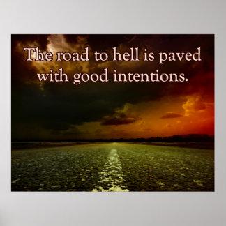 地獄への道 ポスター