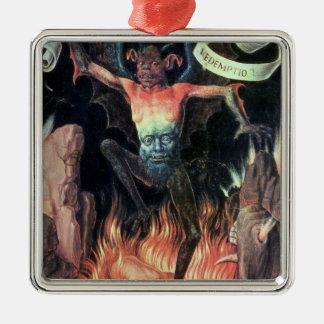 地獄、地球のトリプティクからの右のパネル メタルオーナメント