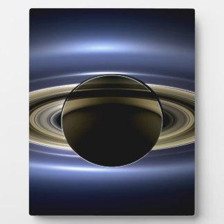 地球および土星 フォトプラーク
