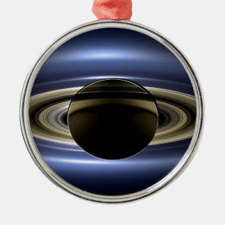 地球および土星 メタルオーナメント