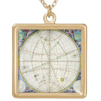 地球および惑星の動きを図表にする地図 オリジナルネックレス