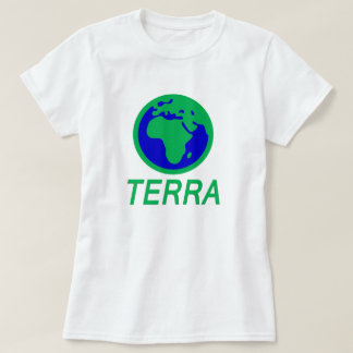 地球および文字: ガリシア人の地球 Tシャツ