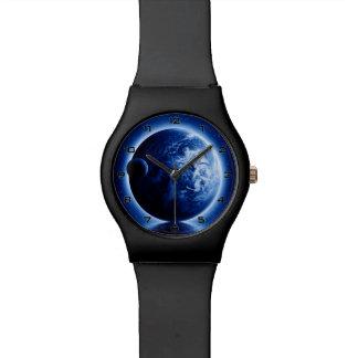 地球および月のファンタジーMay28thの腕時計 腕時計