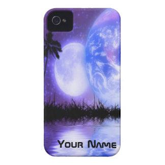 地球および月の天のiPhoneの場合 Case-Mate iPhone 4 ケース