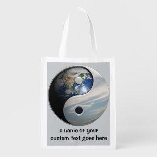 地球および空の陰陽 エコバッグ