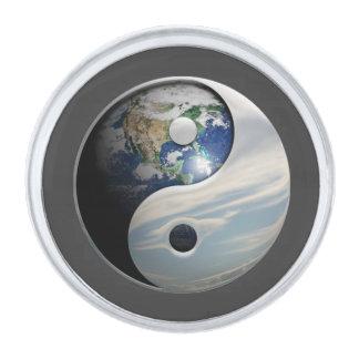 地球および空の陰陽 シルバー ラペルピン