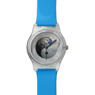 地球および空の陰陽 腕時計
