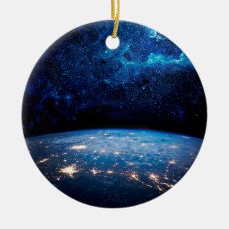 地球および銀河系 セラミックオーナメント