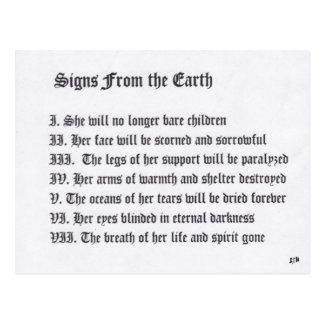 地球からのシンボルや象徴 はがき