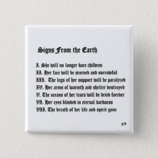 地球からのシンボルや象徴 5.1CM 正方形バッジ