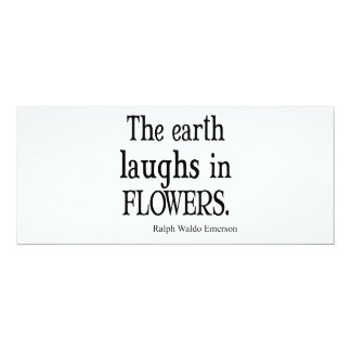 地球が花の引用文で笑わせるヴィンテージエマーソン カード