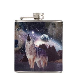 地球で遠ぼえしている月のオオカミ フラスク