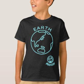 【地球と月(水色)】 The earth and the moon (light blue) Tシャツ