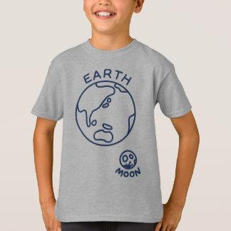 【地球と月(紺色)】 The earth and the moon (navy) Tシャツ