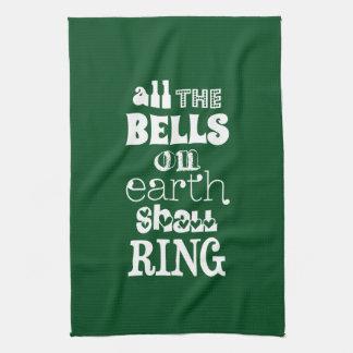 地球のすべての鐘は鳴ります キッチンタオル