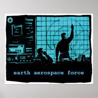 地球のエアロスペース部隊: 管制室 ポスター