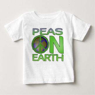 地球のエンドウ豆 ベビーTシャツ