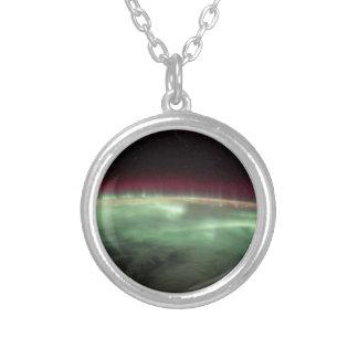 地球のオーロラ シルバープレートネックレス