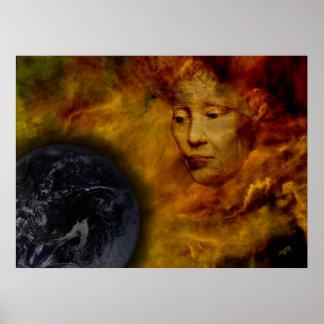地球のガイアポスター環境のデジタルコラージュ ポスター