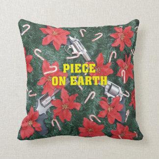 地球のクリスマスのプロ銃の部分 クッション