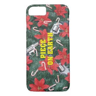 地球のクリスマスのプロ銃の部分 iPhone 8/7ケース