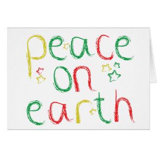 地球のクリスマスの平和 グリーティングカード